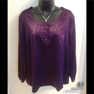 Vintage Satin Blouse Sz XL